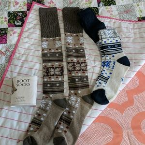 Accessories - Two pairs Brand New boot socks